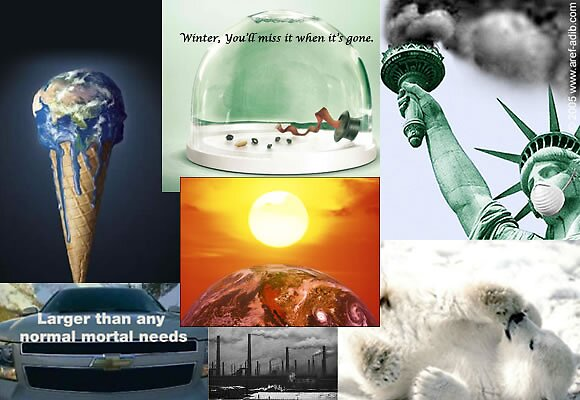 Global Warming Advertisement Collage By CallalilyColors Redbubble