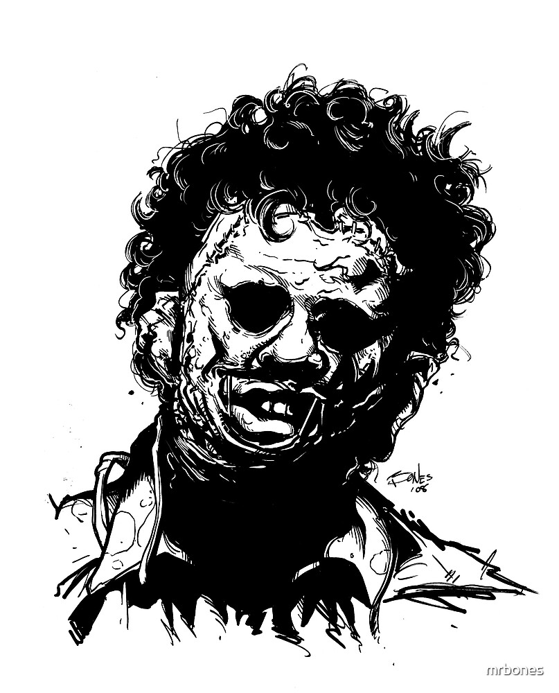 LEATHERFACE By Mrbones Redbubble