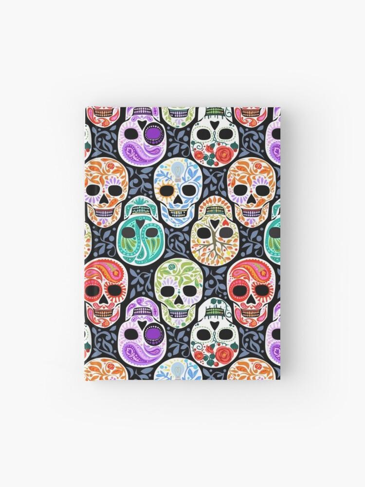 Sugar Skulls Calaveras Repeat In Color Hardcover Journal By Robinpickens Redbubble