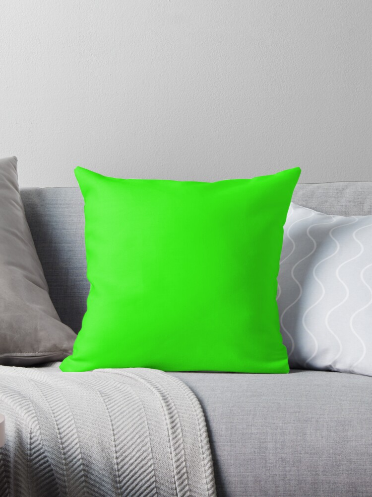 plain lime green throw pillow by loveapplepie redbubble