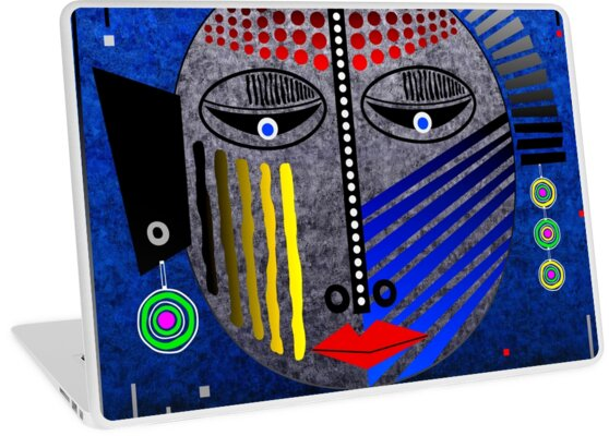 'Tribal Whimsy 12' Laptop Skin products by renowned vagabond fine art travel photographer, Glen Allison