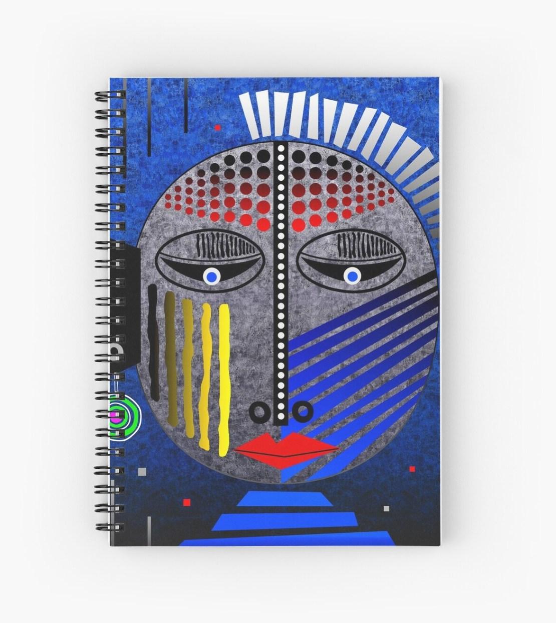 'Tribal Whimsy 12' Spiral Notebook by Glen Allison