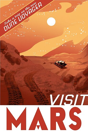 Visit Mars Travel Style Poster Space Posters By
