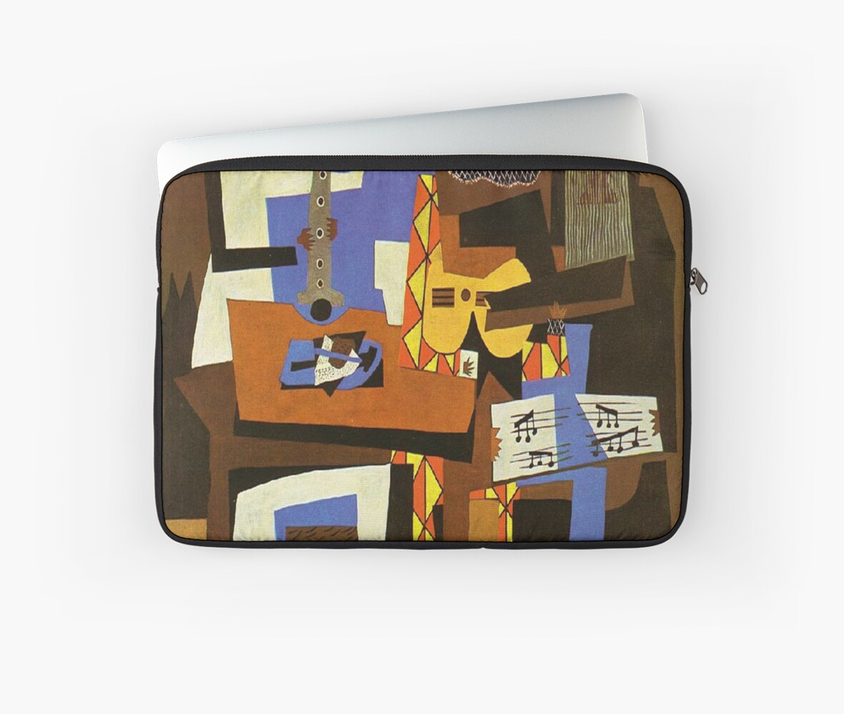 Three Musicians By Pablo Picasso Laptop Sleeves By