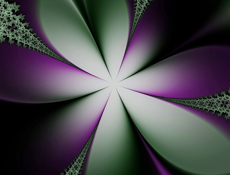 Quot Purple And Green Flowers Quot By Lisaewingart Redbubble