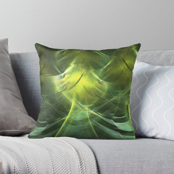 chartreuse throw pillow by kimsyok redbubble