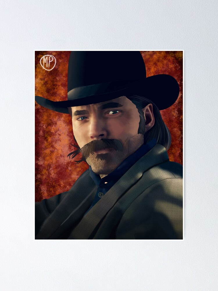 doc holliday wynonna earp poster by mpissott redbubble