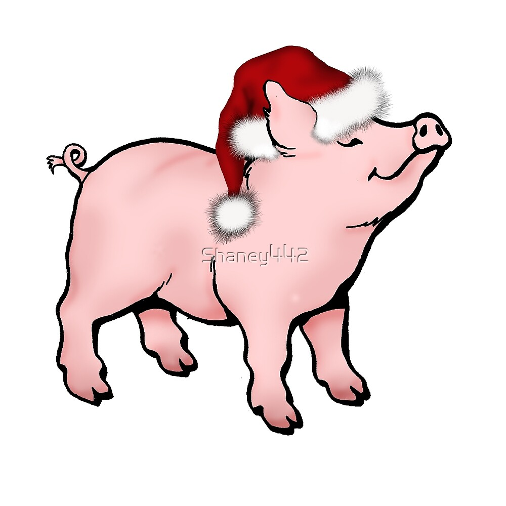 Christmas Piggy By Shaney Gober Redbubble