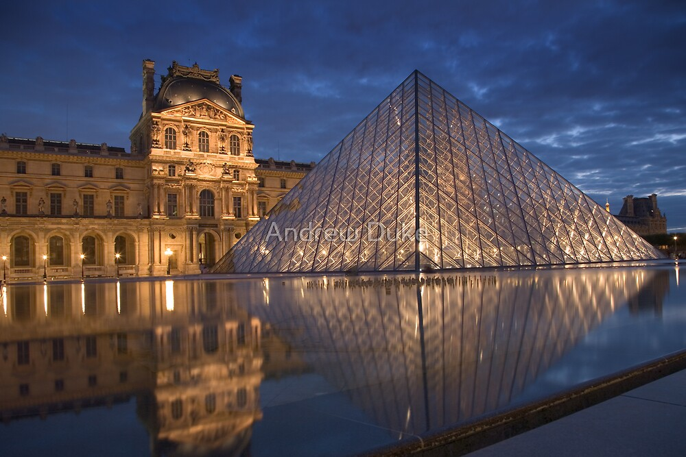 Pyramid At The Louvre Museum Paris By Andrew Duke