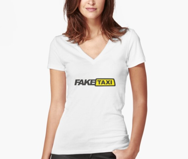 Fake Taxi Womens Fitted V Neck T Shirt Front
