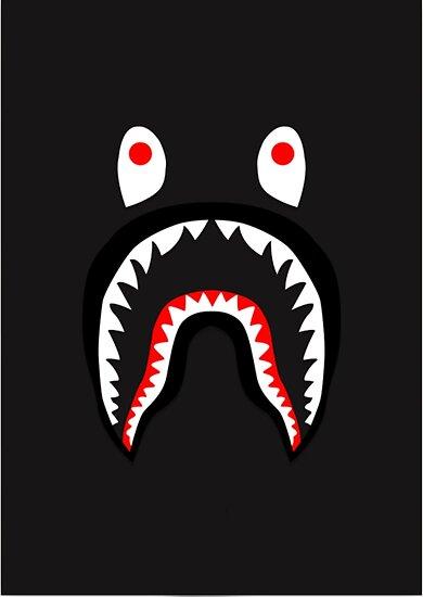 Bape Shark Pattern Merchandise Posters By Lisa McDaniel Redbubble