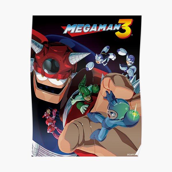 mega man 3 poster by infiniterivals redbubble