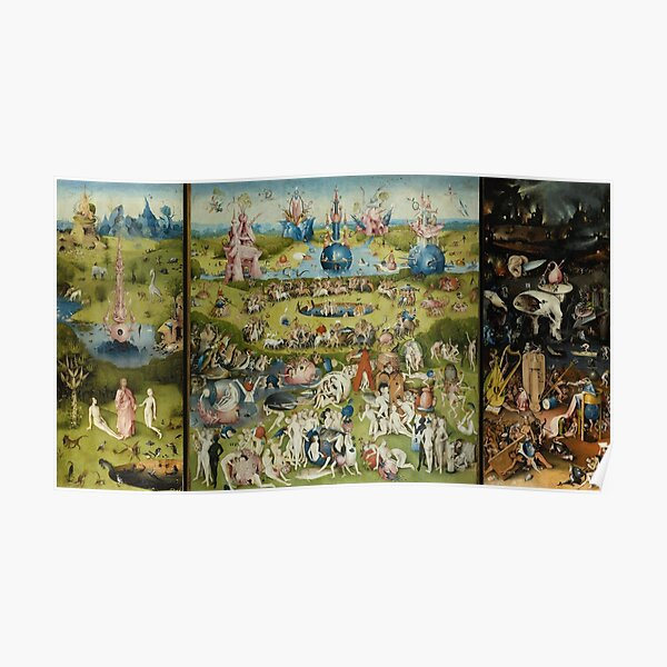 the garden of earthly delights hieronymus bosch poster by maryedenoa redbubble