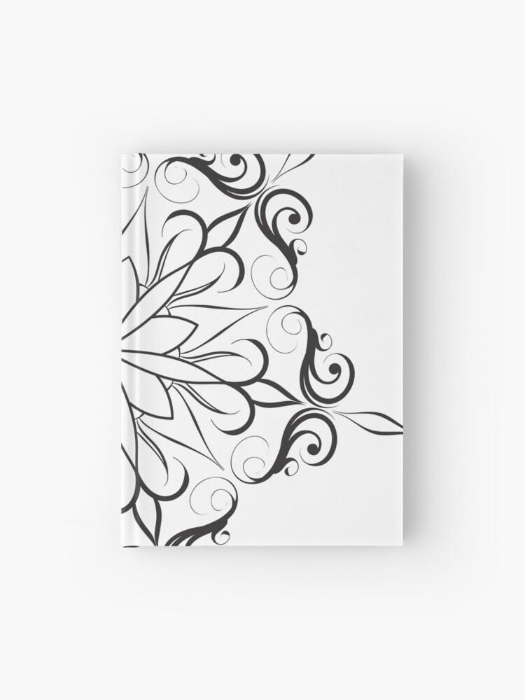 Simple Mandala Line Art Hardcover Journal By Kirart Redbubble