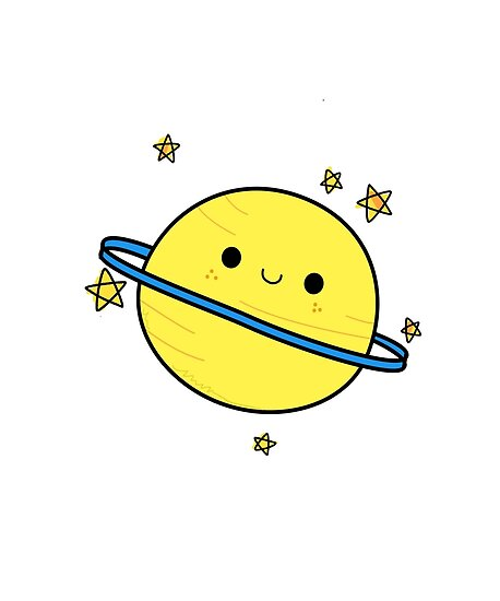 quotHappy Cute Planet Saturnquot Posters by StickersAndStuff