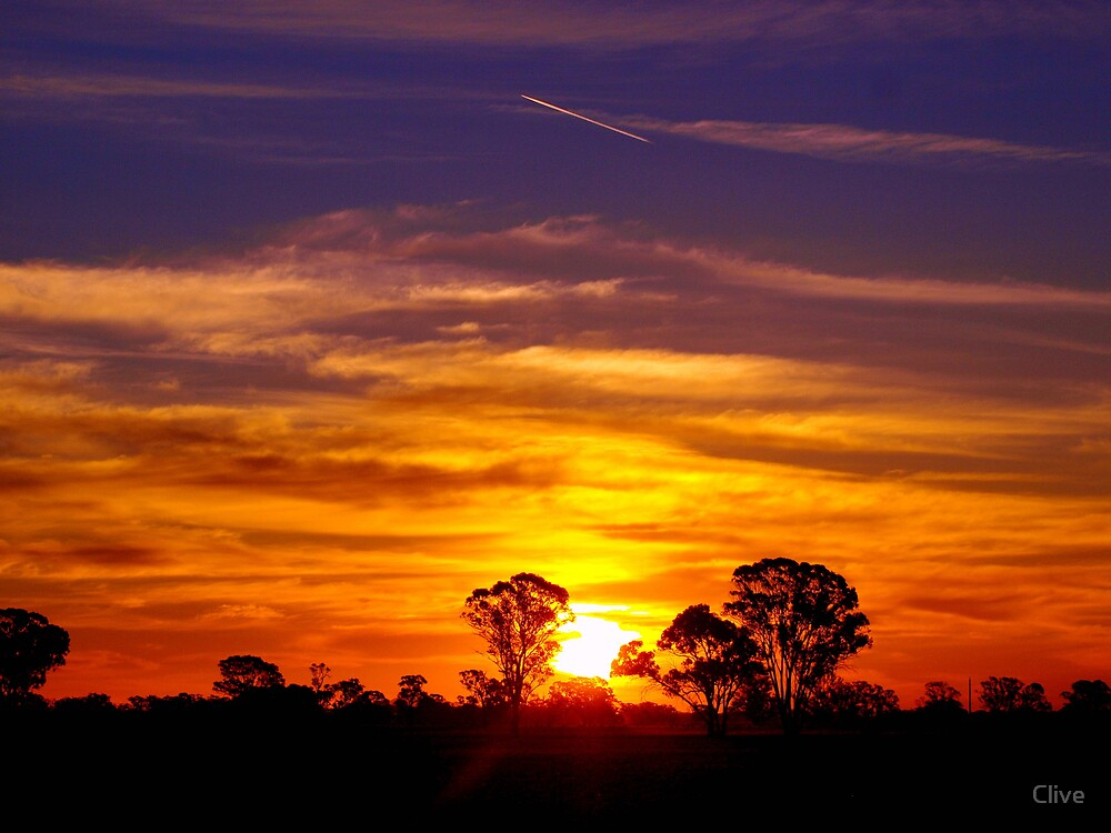 Northern Plains Sunset By Clive Redbubble
