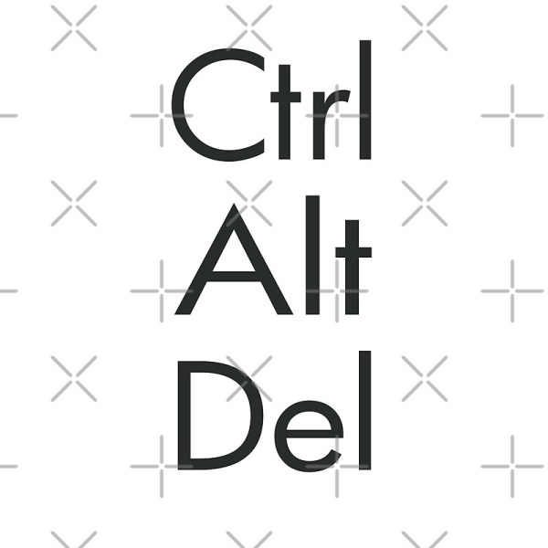 """""""Ctrl Alt Del"""" Posters by robotplunger 