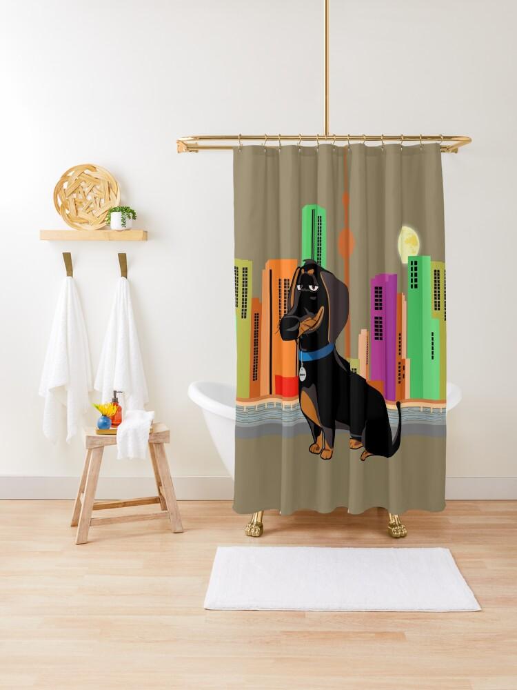 dachshund shower curtain by czerra redbubble