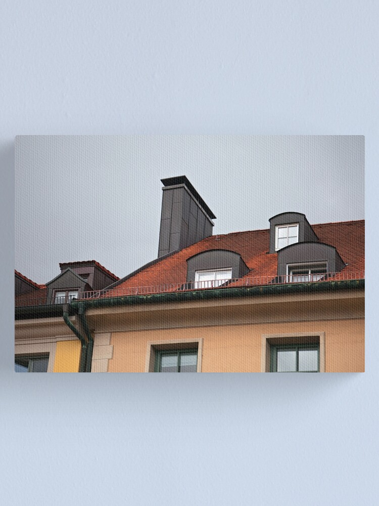 close up of houses with red tile roof in munich germany canvas print by katyalin redbubble