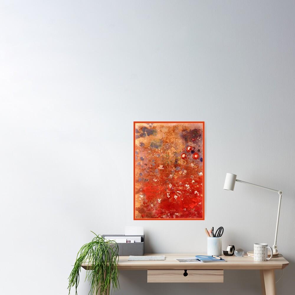 poster redon panneau rouge beau tableau par virginia50 redbubble