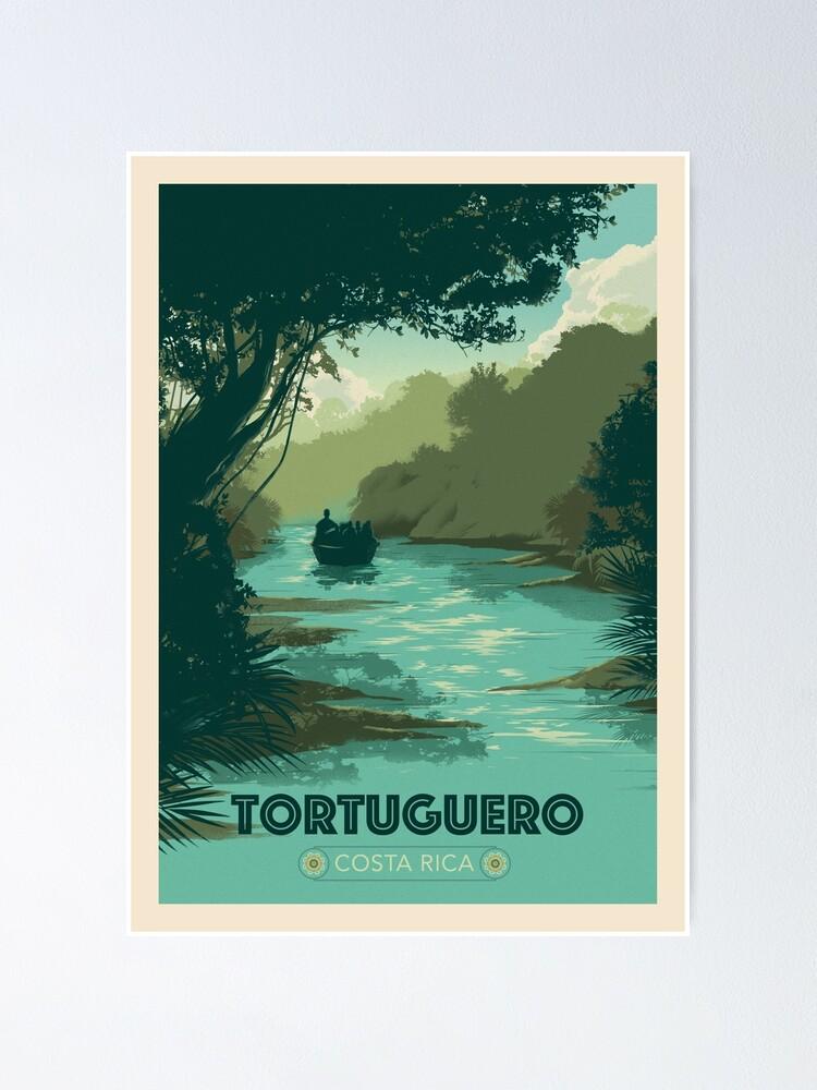tortuguero costa rica poster von monteverde redbubble