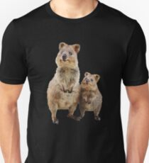 Quokka with Baby Cute Australian Teddy Bear Slim Fit T-Shirt