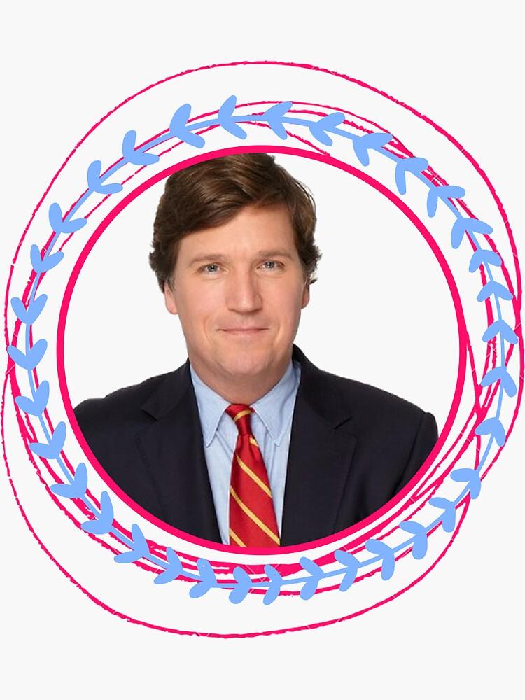 """""""Tucker Carlson Pink Sticker"""" Sticker by samwaldroup ..."""