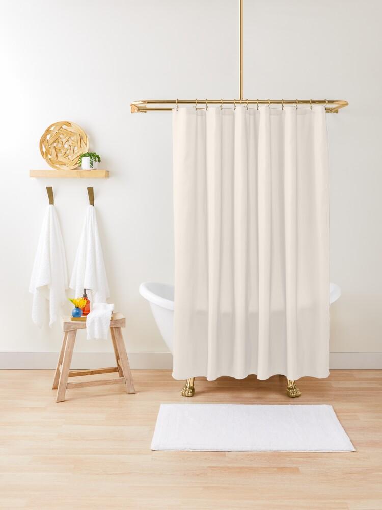 rideau de douche couleur lin linide unique linen color creme couleurs dans des ombres tres legers par ozcushions redbubble