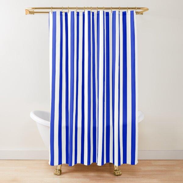 cobalt blue vertical shower curtains redbubble