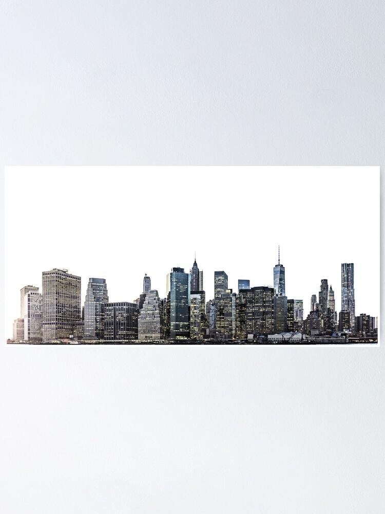 new york city skyline poster von lotusprintshop redbubble