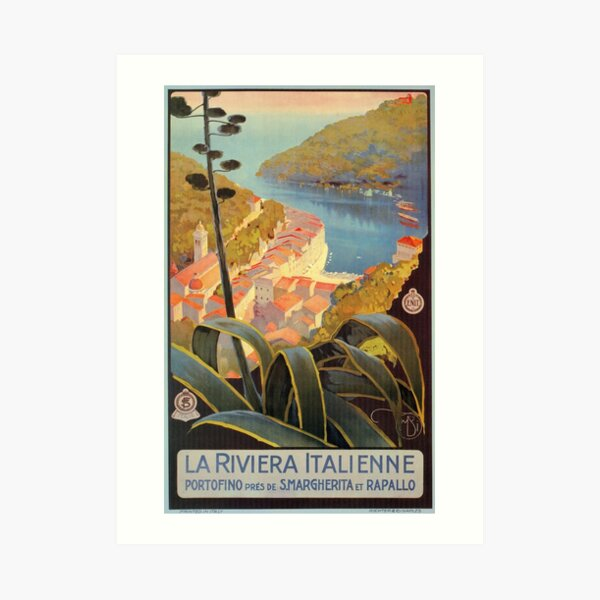 May be an image of indoor. Portofino Wall Art Redbubble