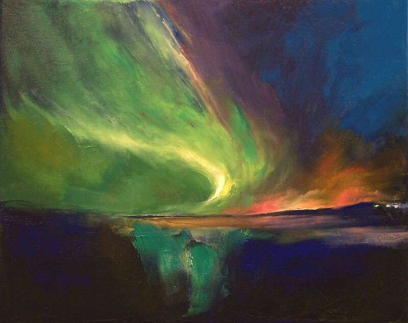 Aurora Borealis By Michael Creese Redbubble