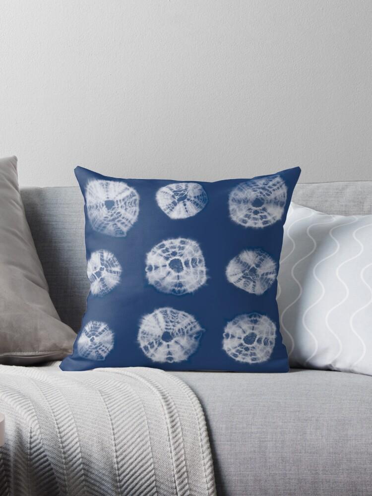 kumo shibori throw pillow by marufemia redbubble