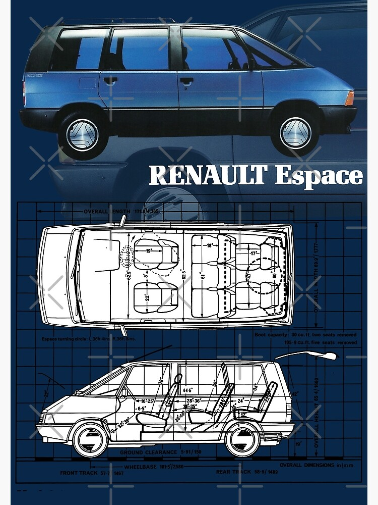 renault espace postcard by throwbackmotors redbubble