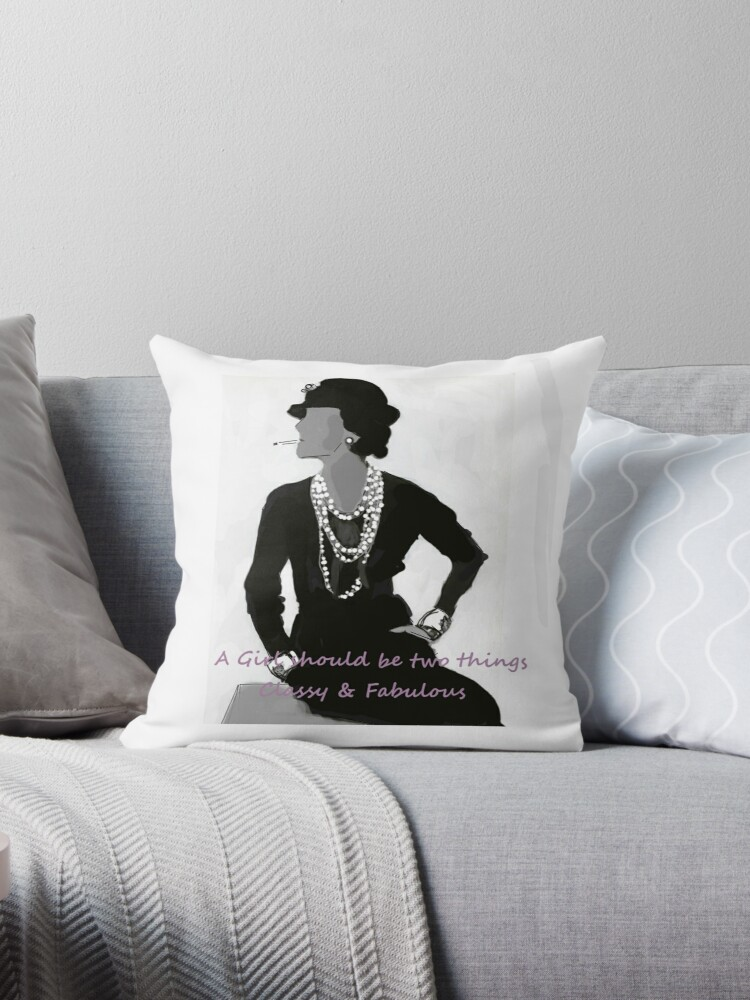 coco chanel throw pillow by dassy86 redbubble