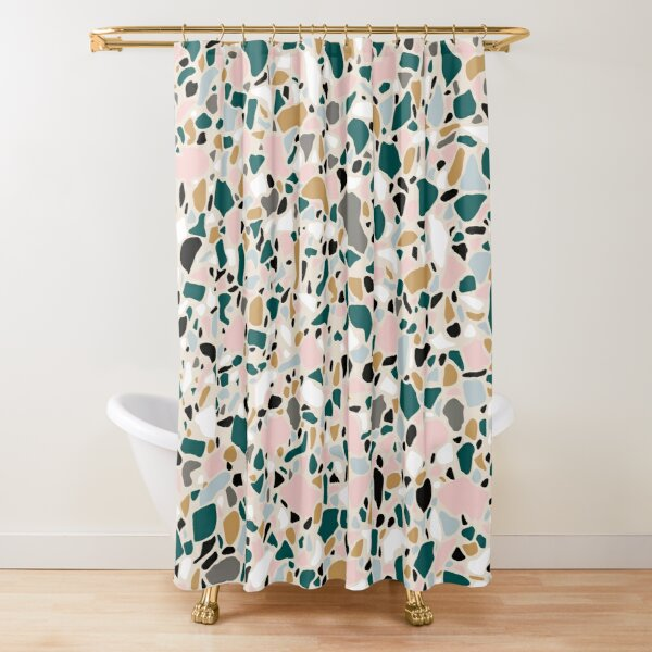 so terrazzo shower curtain by jenbucheli redbubble