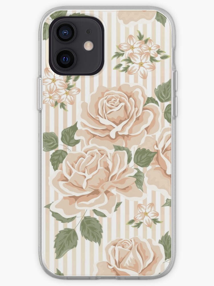 Lecosemeravigliose shabby e country chic passions. Shabby Chic Floral Flowers Roses Stripes Vertical Green Beige White Vintage Elegant Country Chic Modern Trendy Girly Iphone Case Cover By Love999 Redbubble