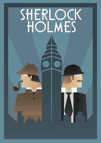 Sherlock Holmes Art Deco Posters By Whitebalanced