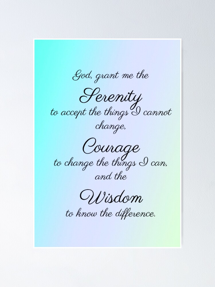 serenity prayer pastel poster by suewallace18 redbubble