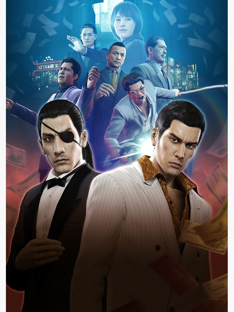 """You aren't borrowing money for the charges you make. """"Yakuza 0 Poster"""" Art Print by Assassinhedgie 