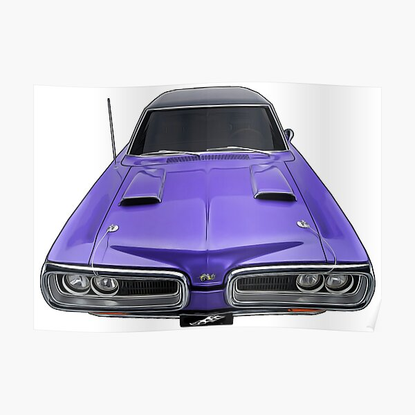 poster 1970 dodge charger redbubble