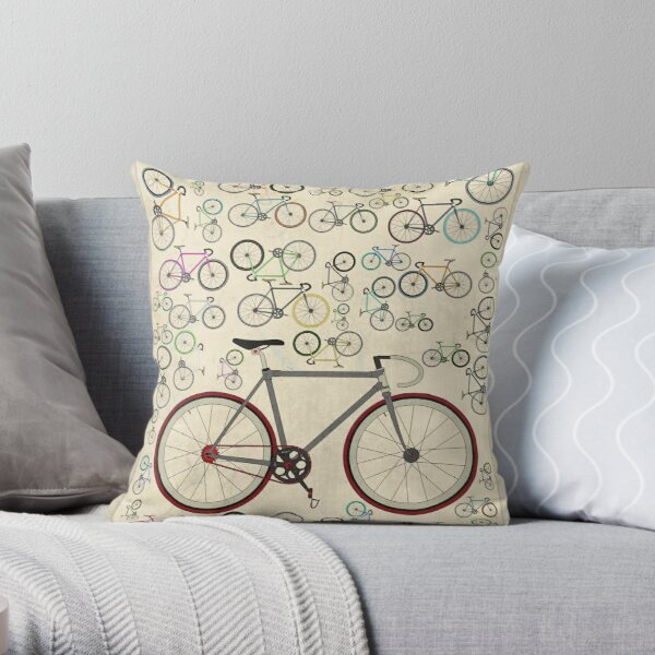 love fixie road bike throw pillow by andyscullion redbubble