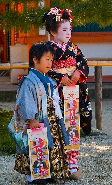 """""""Childrens day at the Heian Shrine, Kyoto, Japan"""" by ..."""