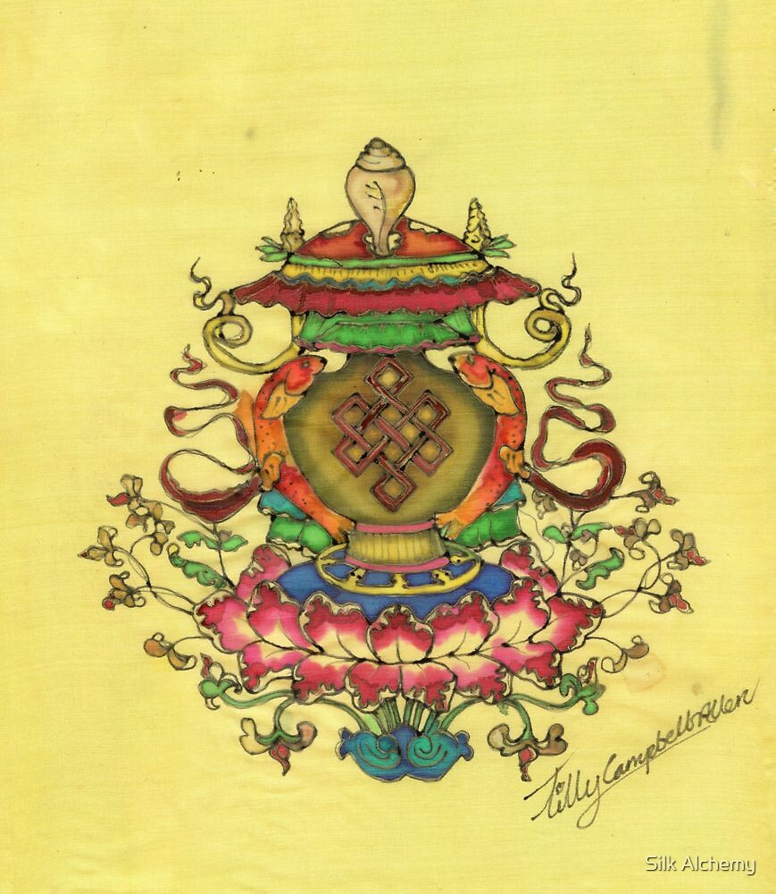 Ashtamangala By Silk Alchemy Redbubble