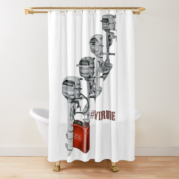 4 1950s evinrude favorites shower curtain by taspaul redbubble