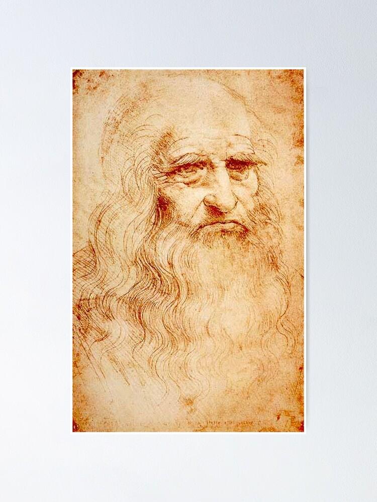 Leonardo Da Vinci Self Portrait Poster By Koo17leon Redbubble