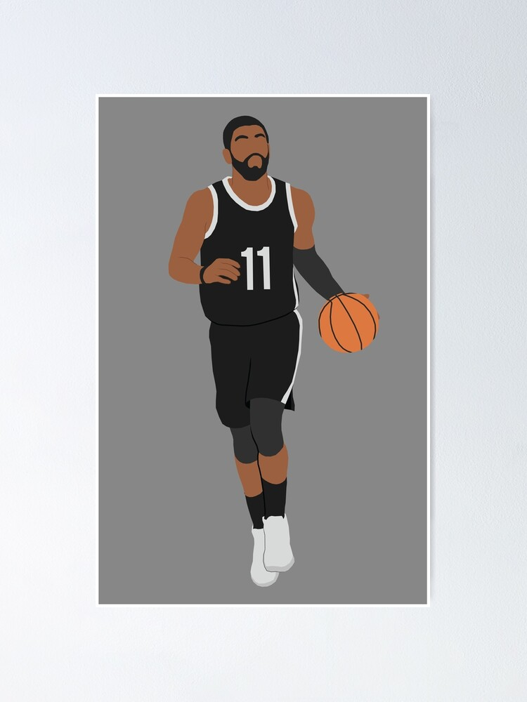 kyrie irving nets poster by patormsby17 redbubble