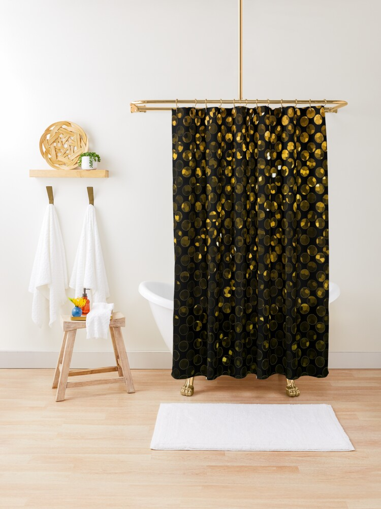 gold crystal bling strass shower curtain by medusa81 redbubble