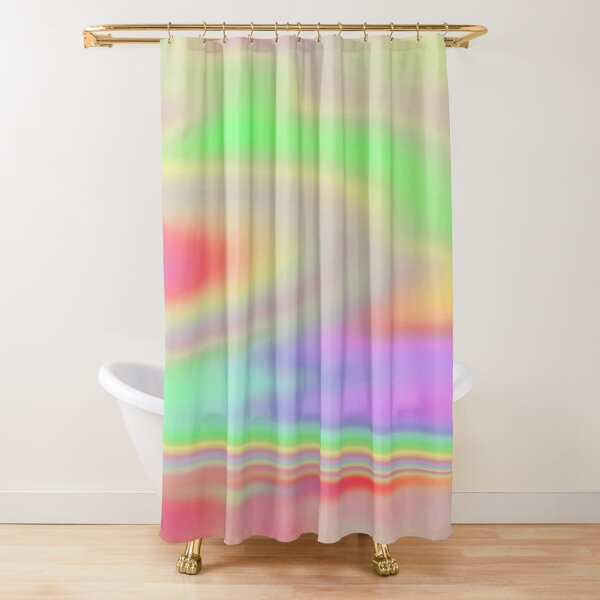 iridescent holographic shower curtains redbubble