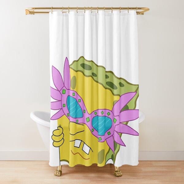 pink sunglasses spongebob shower curtains redbubble